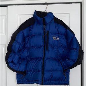 Mountain Hardwear Blue Down Puffer Coat